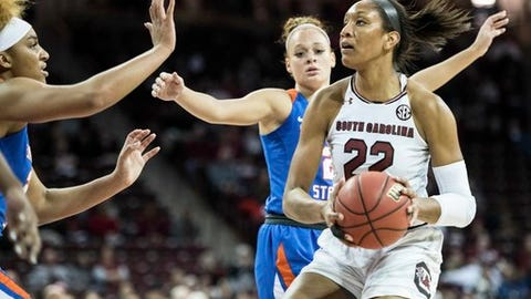 Wilson, No. 4 SC women beat Savannah St 99-38