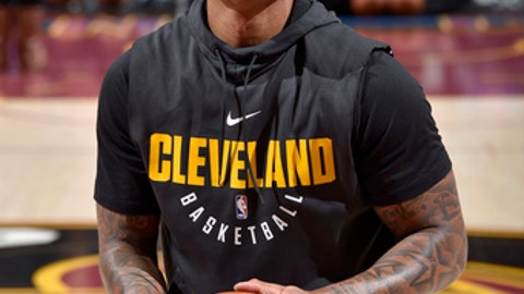 CLEVELAND, OH - DECEMBER 14: Isaiah Thomas #3 of the Cleveland Cavaliers warms up before the game against the Los Angeles Lakers on December 14, 2017 at Quicken Loans Arena in Cleveland, Ohio. NOTE TO USER: User expressly acknowledges and agrees that, by downloading and/or using this photograph, user is consenting to the terms and conditions of the Getty Images License Agreement. Mandatory Copyright Notice: Copyright 2017 NBAE (Photo by David Liam Kyle/NBAE via Getty Images)
