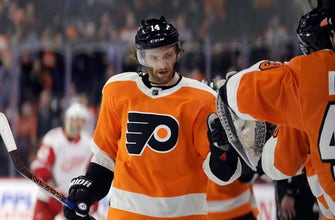 Couturier scores 16th goal, Flyers beat Red Wings 4-3