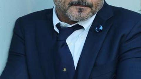 Inter coach Luciano Spalletti waits for the start of the Italian Serie A soccer match between Sassuolo and Inter in Reggio Emilia, Italy, Saturday, Dec. 23, 2017.(Elisabetta Baracchi/ANSA via AP)