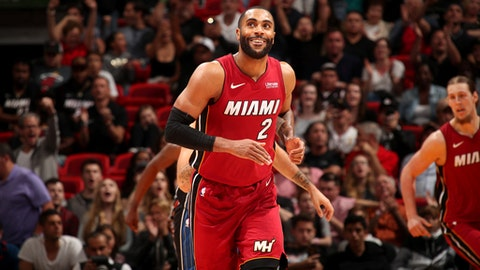 MIAMI, FL - DECEMBER 26:  Wayne Ellington #2 of the Miami Heat reacts to a play during the game against the Orlando Magic on December 26, 2017 at American Airlines Arena in Miami, Florida. NOTE TO USER: User expressly acknowledges and agrees that, by downloading and or using this Photograph, user is consenting to the terms and conditions of the Getty Images License Agreement. Mandatory Copyright Notice: Copyright 2017 NBAE (Photo by Issac Baldizon/NBAE via Getty Images)