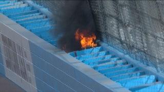 Landon & Matt's NASCAR Christmas Presents: SAFER barrier catches fire at Phoenix