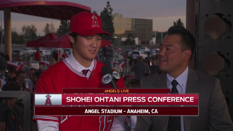 Ohtani on signing with the Angels: I want to be the best player that I can