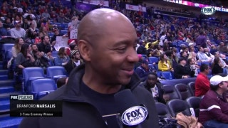 Branford Marsalis enjoying a home game | Pelicans Insider