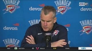 Billy Donovan on 3rd quarter for OKC in loss to Hornets