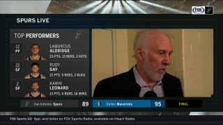 Gregg Popovich: 'Sometimes you win, sometimes you lose'