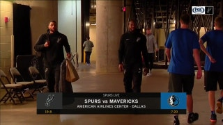 Kawhi Leonard walking into Dallas arena, ready for season debut | Spurs Live