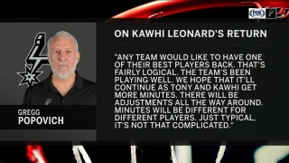 Pop gives Kawhi the clear | Spurs Live