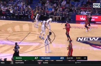 Images of WATCH: DeMarcus Cousins, Anthony Davis connect on ally-oop