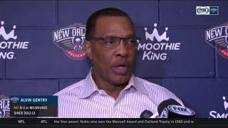Alvin Gentry on keeping Rondo on bench in 4th quarter vs. Bucks