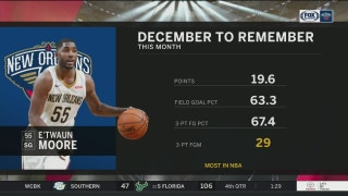 E'twaun Moore having a December to Remember | Pelicans Live