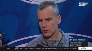 Coach Donovan doesn't want to blame fatigue for loss to Knicks
