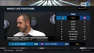 Frank Vogel liked Magic's pace late, would like to see more of it early