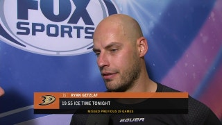 Getzlaf on return: 'Took a little bit to get back into it'