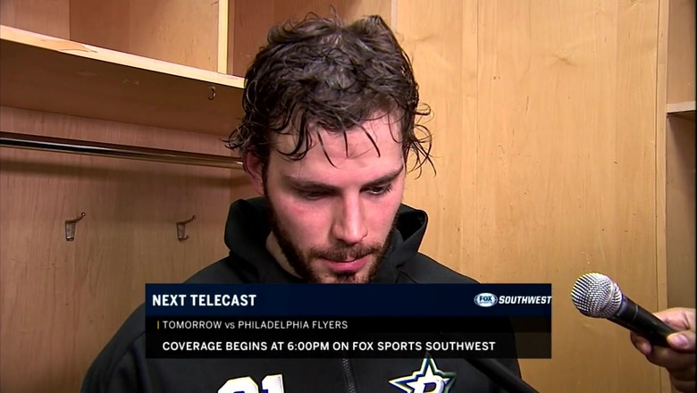 Tyler Seguin on what to take away in loss to Devils, looks ahead to Flyers