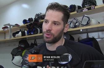 HE'S BACK! Ryan Kesler returns to the ice for the Ducks