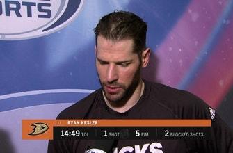 Ducks' Ryan Kesler discusses the 'team' win