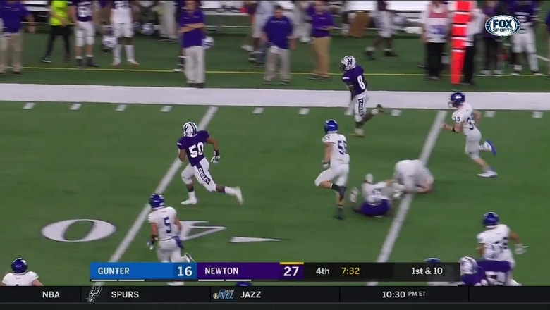 Newton Has Running Room Scores Touchdown Hsfb State Championships Fox Sports