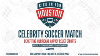 Stu Holden is helping Hurricane Harvey victims with 'Kick in for Houston' charity soccer match