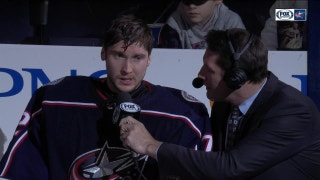 Bobrovsky not only delivers on the ice but also as a star in postgame interview