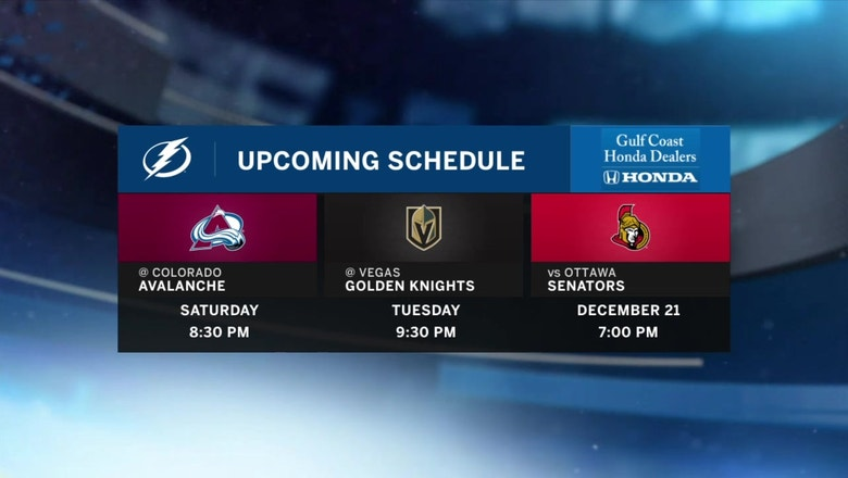 Lightning's Western Conference road trip continues in Colorado on Saturday