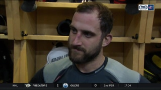 Nick Foligno grabs his 100th goal as a Columbus Blue Jacket but is more proud of the way his team bounced back