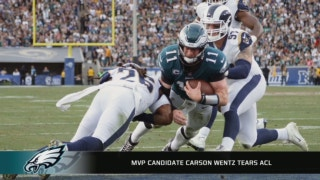 MVP candidate Carson Wentz is out for the season with a torn ACL