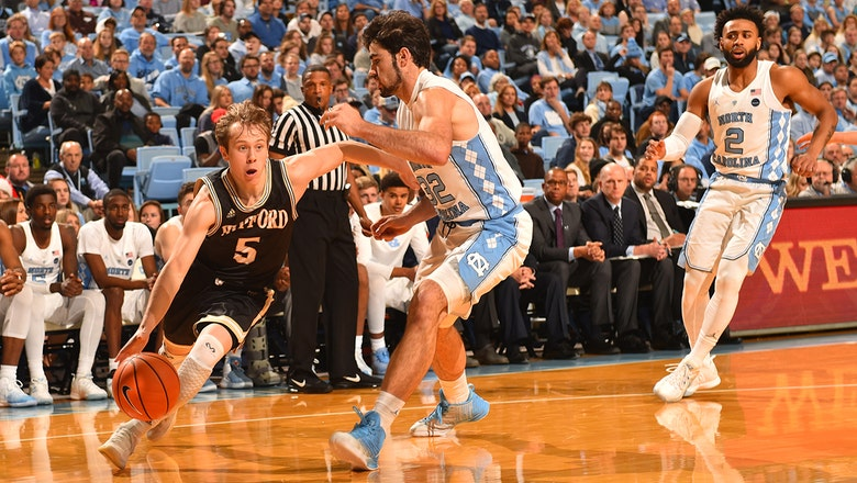 Wofford earns first win over Top 25 opponent with stunning 79-75 upset of No. 5 North Carolina