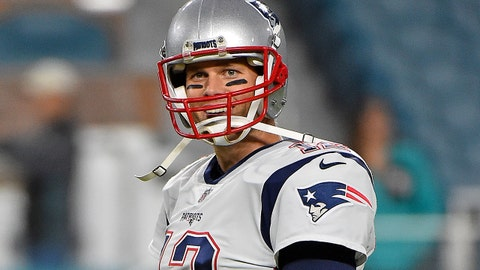 Dec 11, 2017; Miami Gardens, FL, USA; New England Patriots quarterback Tom Brady (12) looks on prior to the game against the Miami Dolphins at Hard Rock Stadium. Mandatory Credit: Jasen Vinlove-USA TODAY Sports