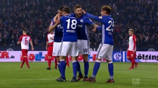 Di Santo nets back-heel goal for Schalke vs. Augsburg | 2017-18 Bundesliga Highlights