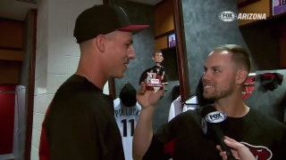 FSAZ17 for '17: Jake shares his bobblehead with a lamb