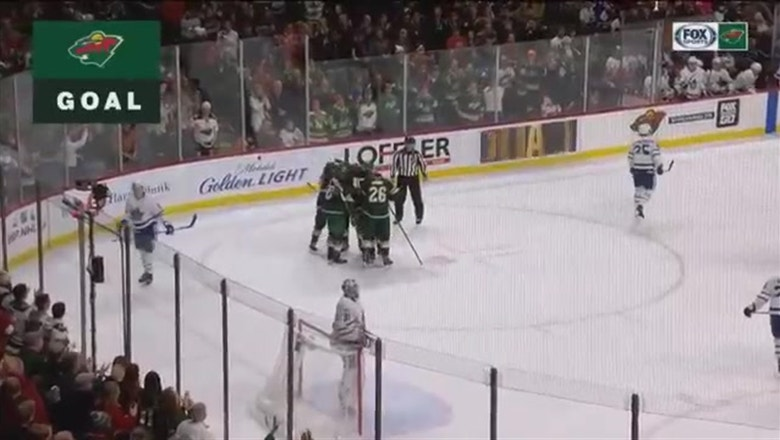 WATCH: Wild's Ennis, Granlund score in 2-0 win over Maple Leafs