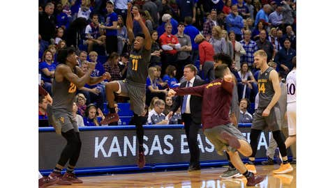 No. 16 Arizona State upsets No. 2 Kansas in Lawrence