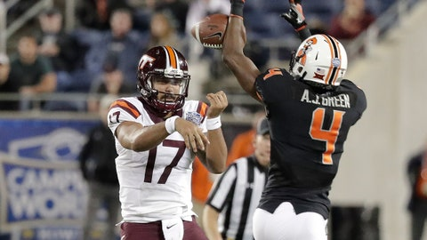 Rudolph heating up in second half; Cowboys holding on against Virginia Tech