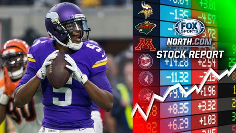 Teddy Bridgewater, Vikings quarterback (↑ UP)
