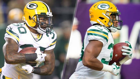The Packers' running backs (⬆ UP)
