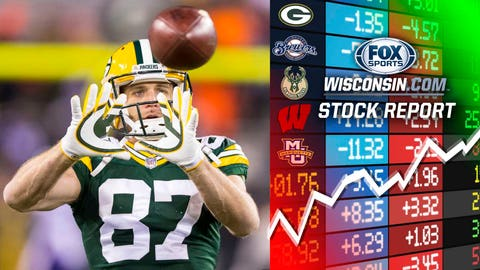 Jordy Nelson, Packers wide receiver (↓ DOWN)