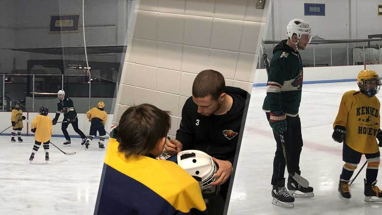 Top Tweets: Wild's Coyle joins youth hockey team for practice