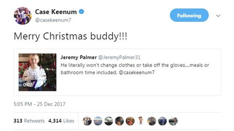 Case Keenum, Vikings quarterback