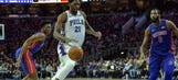 Embiid waves goodbye to Drummond, Pistons in 108-103 win