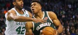 Giannis scores 40, but Bucks fall 111-100 to Celtics