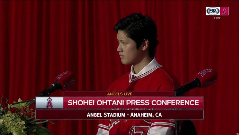 Busy first day in SoCal for Shohei Ohtani at Angel Stadium