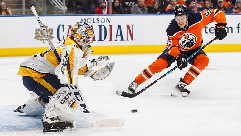 Preds LIVE to Go: Saros posts 46-save shutout as Nashville womps Edmonton 4-0