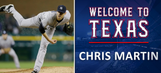 Rangers add RHP Chris Martin…not the lead singer of Coldplay