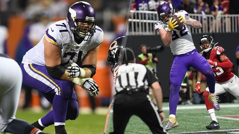 Vikings TE Rudolph, LT Reiff probably out Sunday