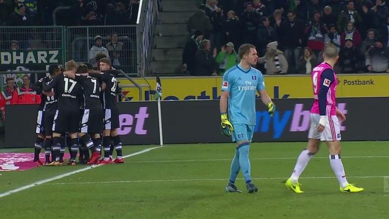 Thorgan Hazard puts Gladbach in front vs. Hamburg | 2017-18 Bundesliga Highlights