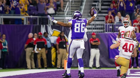 Vikings TE Kyle Rudolph plays against Bengals after suffering ankle injury