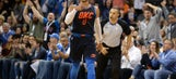 Westbrook's triple-double leads Thunder past depleted Spurs