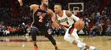 Ellington ties Heat 3-point record in loss to Trail Blazers