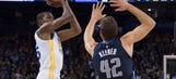 Durant, Warriors top Mavericks 112-97